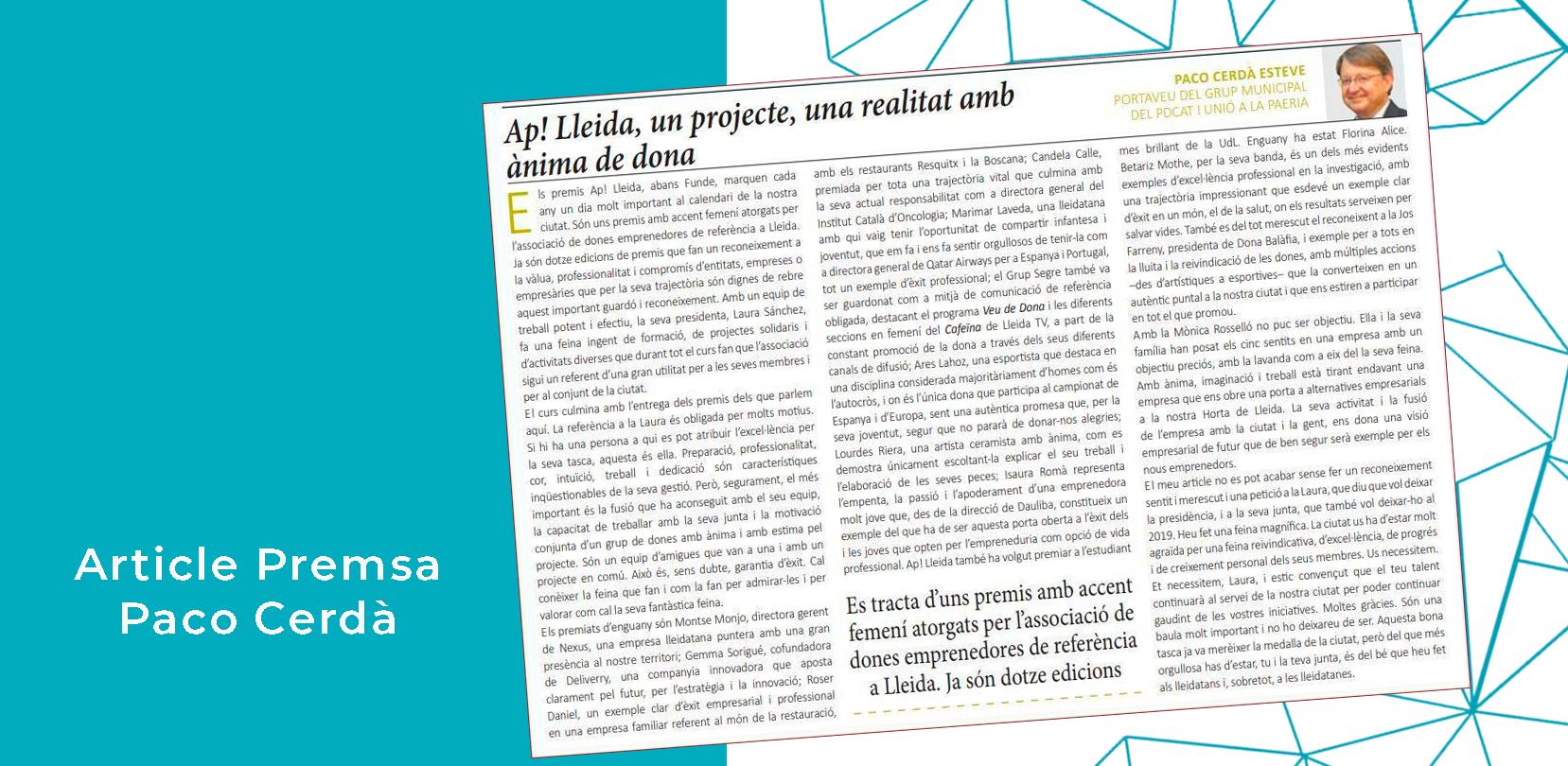 Article Paco Cerdà