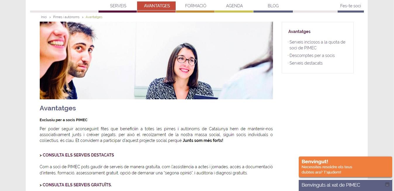 Pàgina Web Pimec