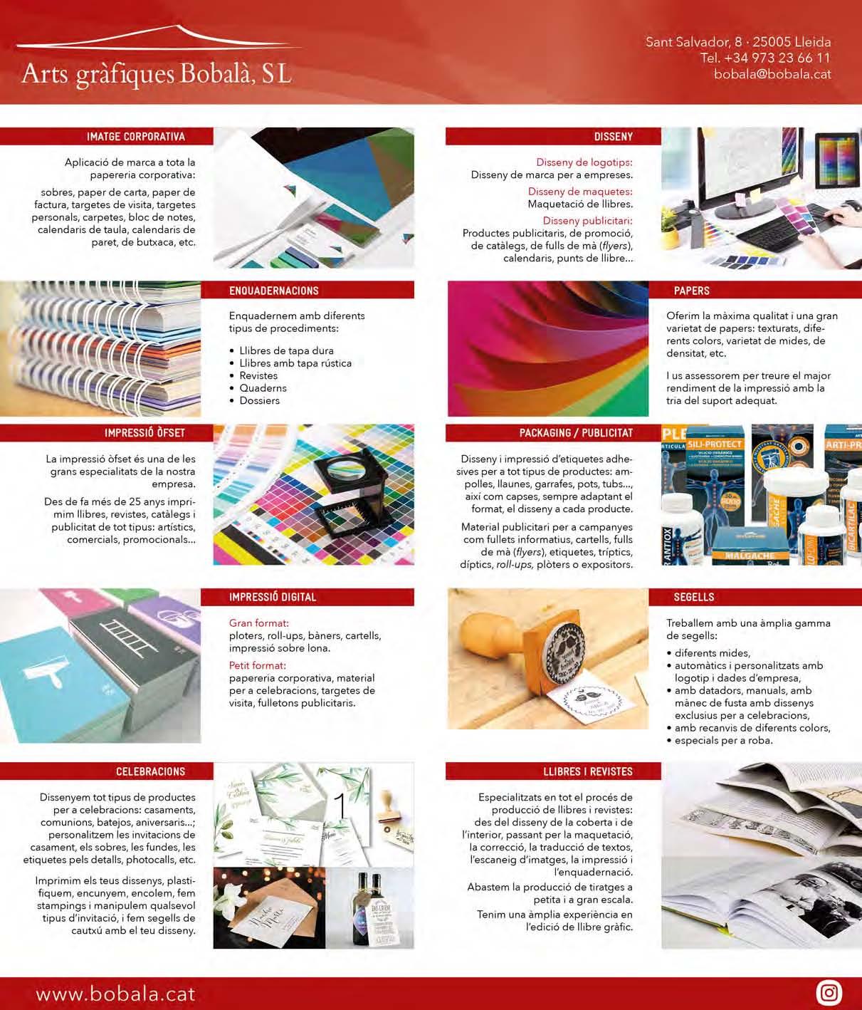 Arts Gràfiques Bobalà ofereix solucions de disseny gràfic i imprena totalment personalitzats per a empreses i particulars
